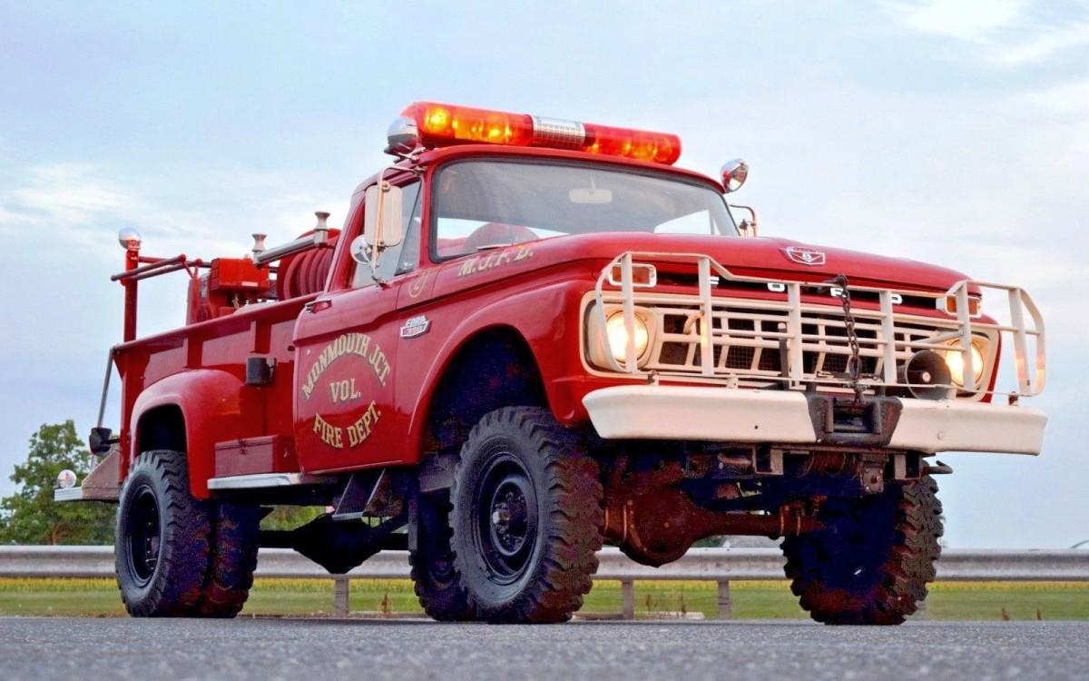 Quick Attack Survivor 1965 Ford F 350 Fire Truck