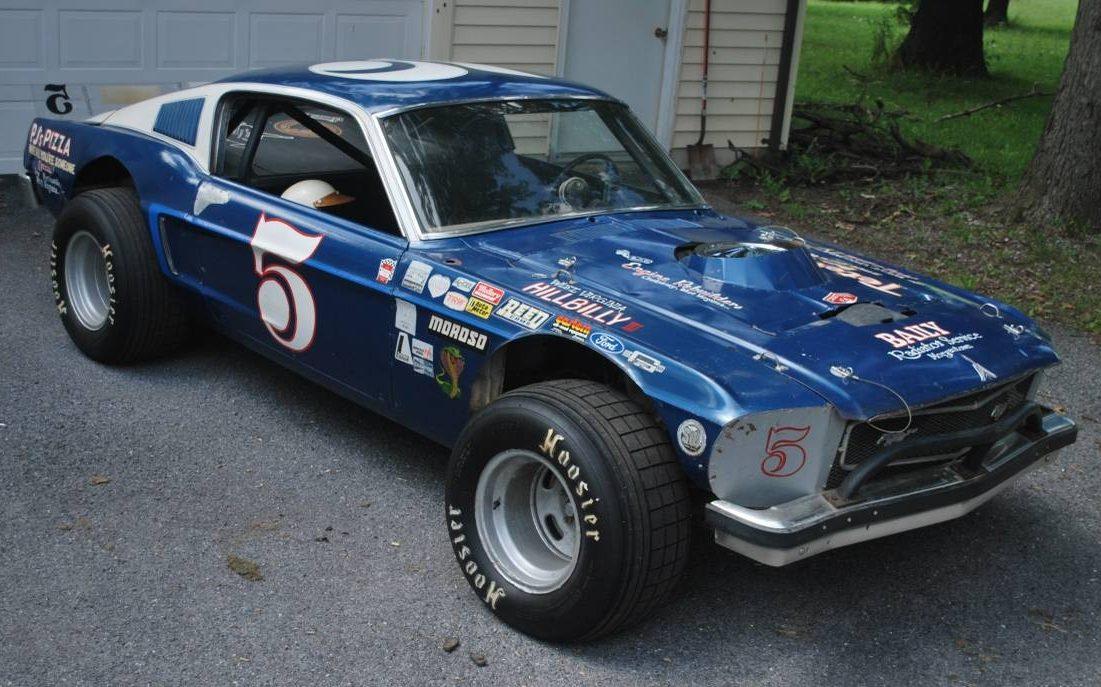 Vintage Dirt Track Racer 1968 Mustang Fastback
