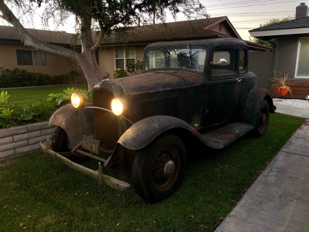 Barn Find 1932 Ford Coupe Original Paint And Parts