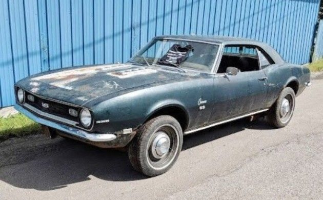 1968 Camaro Project For Sale >> Rusty But Honest 1968 Chevrolet Camaro Ss 396