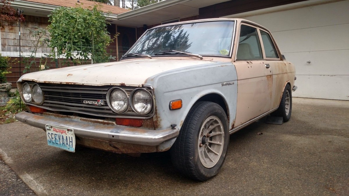 Boxes of Parts Included: 1971 Datsun 510 2 Door