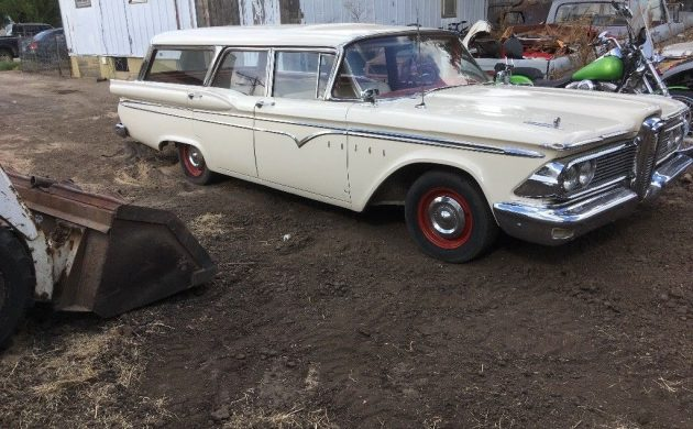 The Edsel Is Offered With A Clear Title And Bidding Has Reached 4050 But Reserve Hasnt Been Met