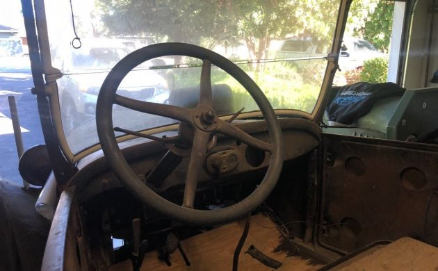 bare bones, the interior has little to offer other than a steering wheel, a  dash, the front seat, and some wooden flooring  although this isn't bad,