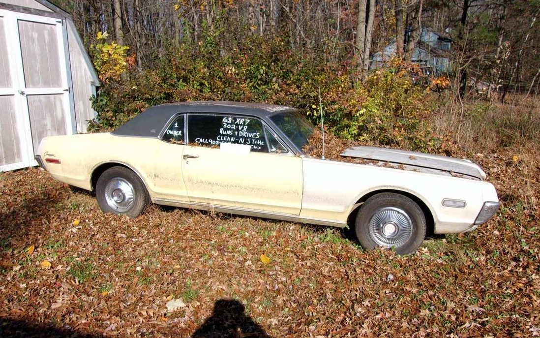 Bill Of Sale Form For Car >> Project With Parts: 1968 Mercury Cougar XR-7
