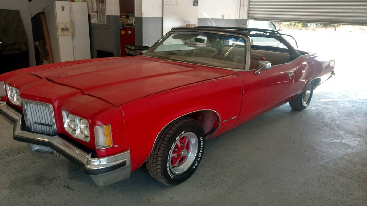 big and brawny  1972 pontiac grand ville convertible