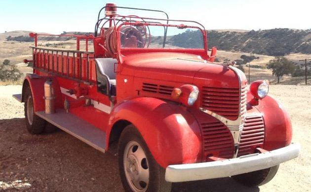 Vintage Fire Fighter: Dodge Fire Truck