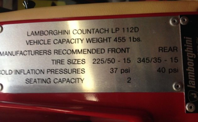 25th Anniversary 1989 Lamborghini Countach