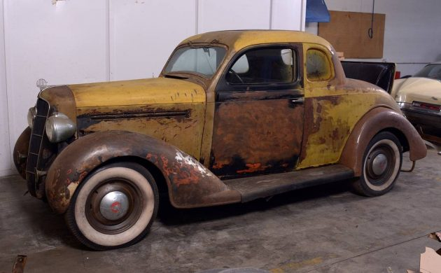 Stored Since The 70s: 1935 Plymouth Coupe