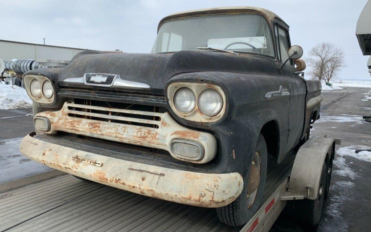 Rare 1959 Chevrolet Apache Fleetside Short Box!