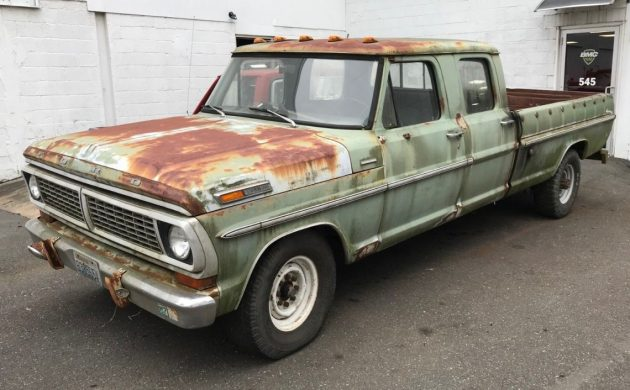 Crew Cab Trucks For Sale >> Green Beast 1970 Ford F 350 Crew Cab