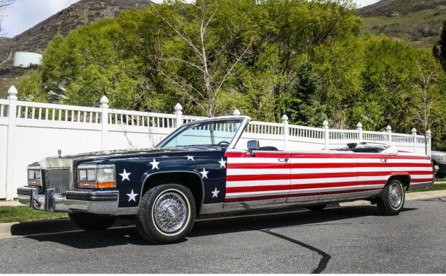 d8718f01518a3 Patriotic 1987 Cadillac Brougham Convertible Limo