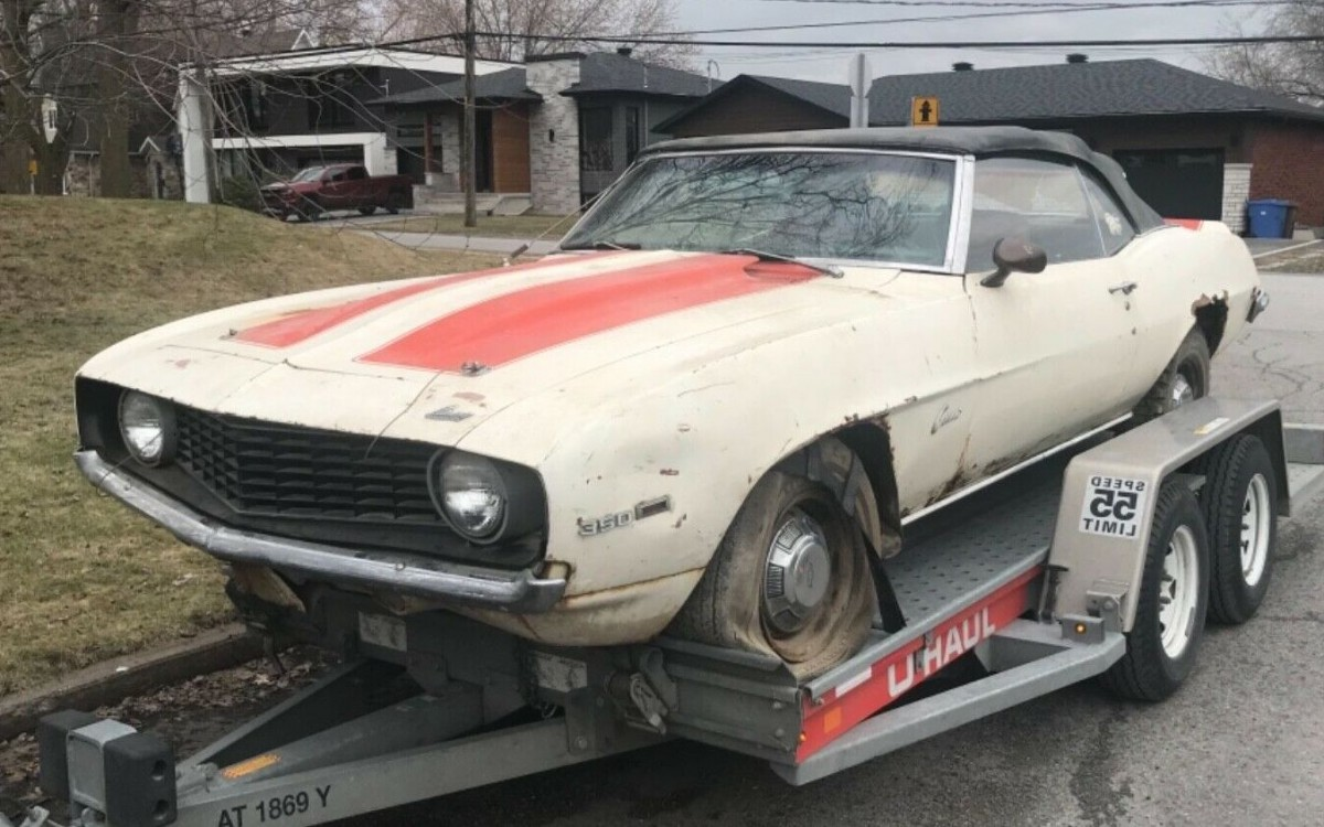 1969 Chevrolet Camaro Z11 Pace Car Project