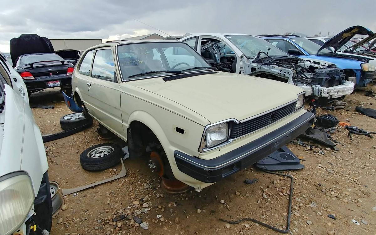 junkyard find  mile  honda civic hatchback