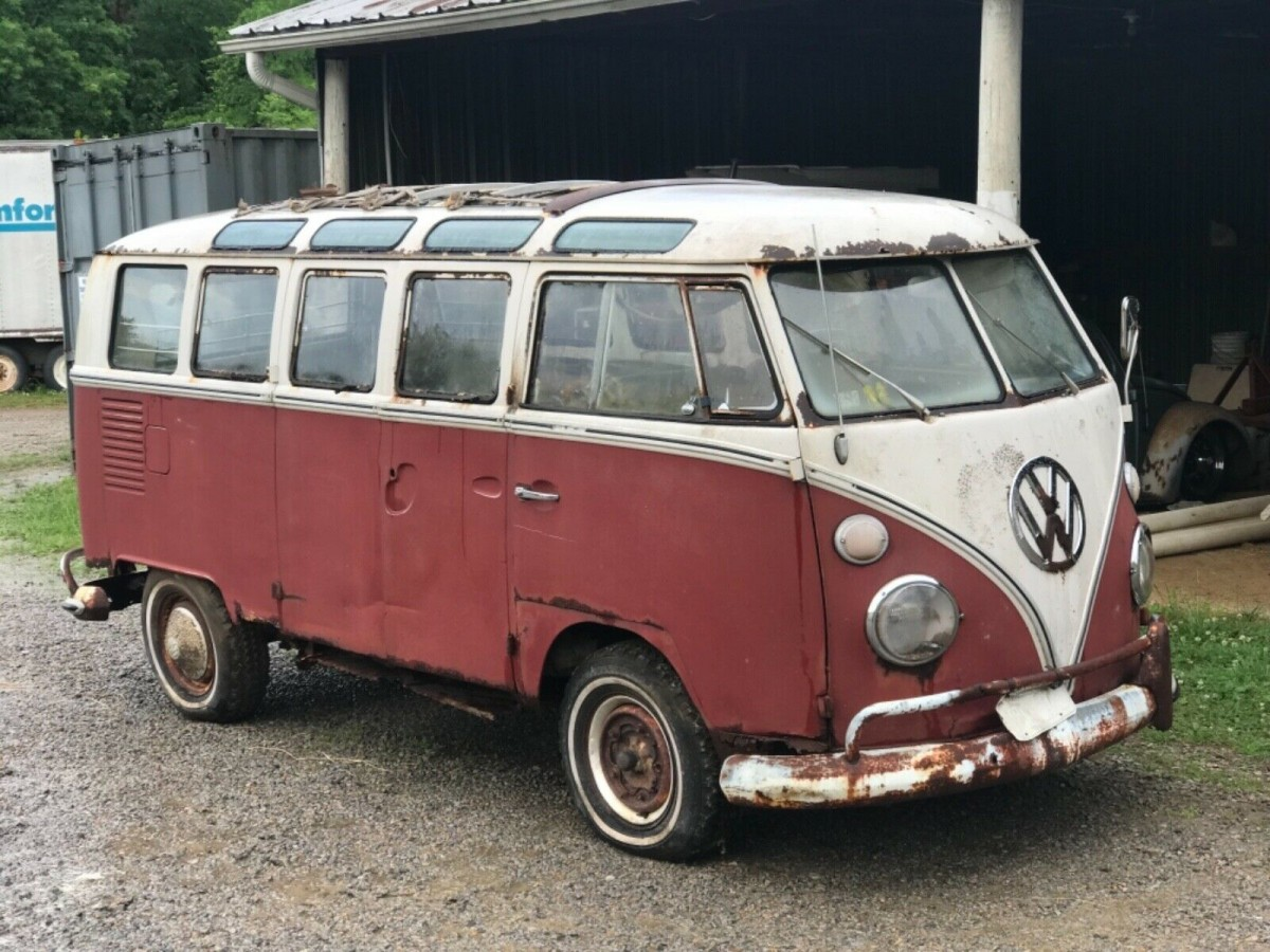 Commercial Van For Sale >> Original Paint Samba: 21-Window VW Bus