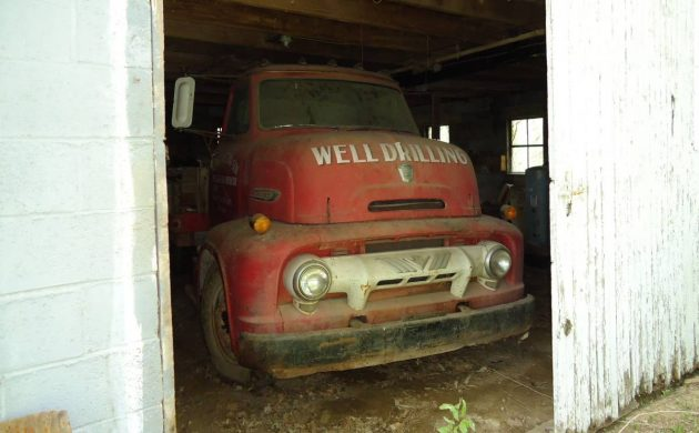 Big Barn Find 1954 Ford Coe Well Drilling Truck
