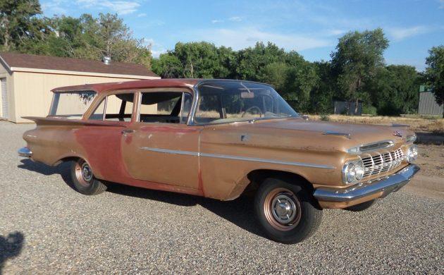 Rare Two Door Wagon 1959 Chevrolet Brookwood