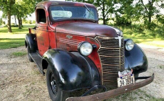 Original Character 1938 Chevrolet Short Box Pickup