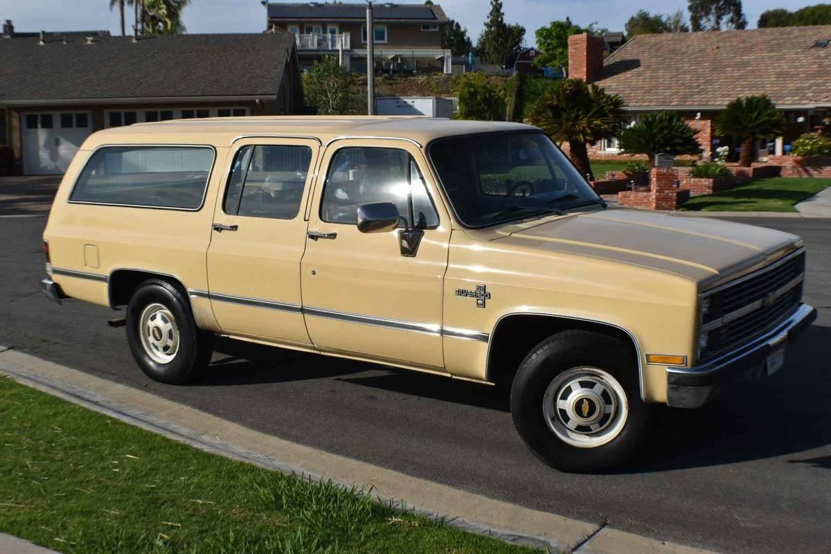 California One Owner 1983 Chevrolet Suburban
