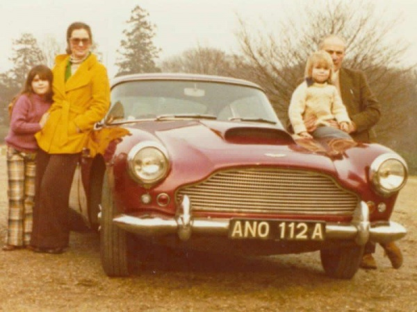 family-with-1959-aston-martin-db4